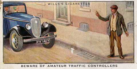 Road safety advice - beware of amateur traffic controllers