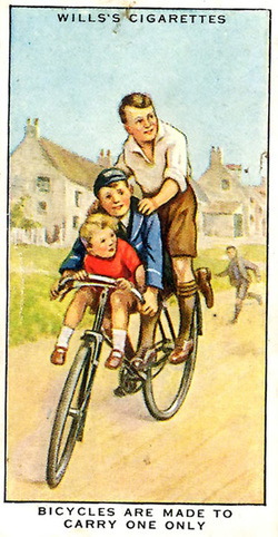 Road safety advice - bicycles are made to carry one only
